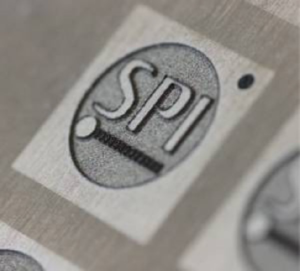 Example from SPI of stainless steel engraving