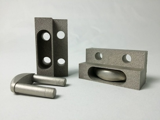 A 3D printed model of stainless steel fastener prototypes