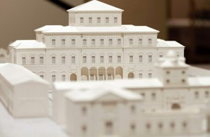 Stereolithography model of the Royal Palace of Venaria
