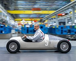 Audi's replica of the 1936 Auto Union Type C grand prix car
