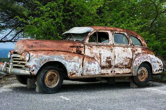 Rust has rendered this car useless