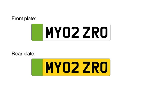 Green number plates are being introduced around the world