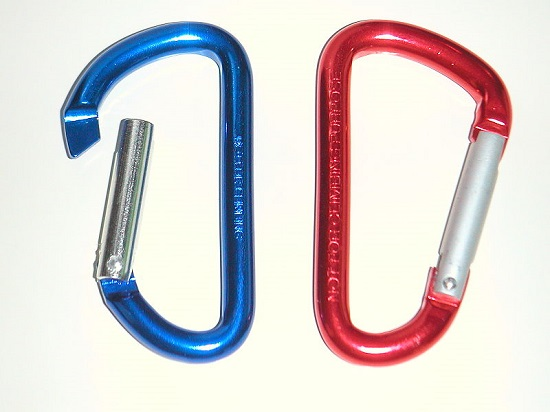These carabiners feature an anodised surface